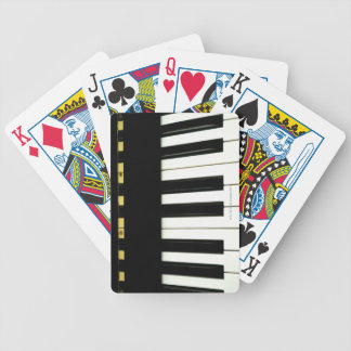 Piano Keys Bicycle Playing Cards