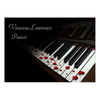 Piano keys black elegant chubby business cards