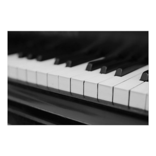 Piano keys black Weis photography Posters