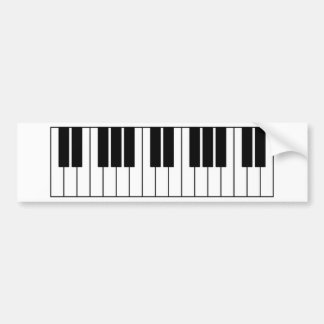 Piano Keys Bumper Sticker