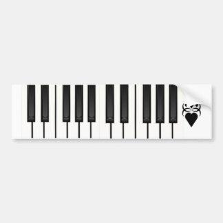 Piano Keys Bumper Sticker