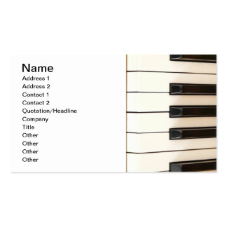 Piano Keys Pack Of Standard Business Cards