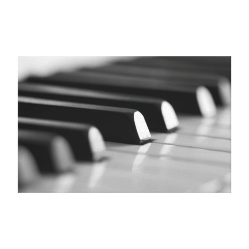 Piano keys stretched canvas prints