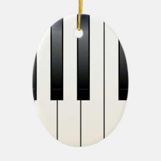 Piano Keys Ceramic Oval Decoration
