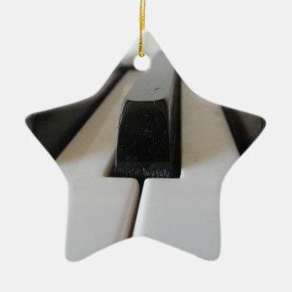piano keys ceramic star decoration