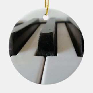 piano keys christmas ornament