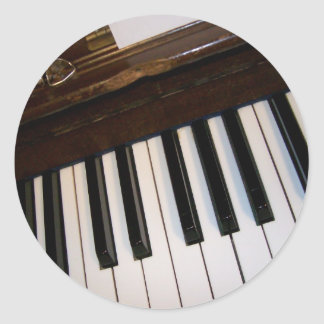 Piano Keys Classic Round Sticker