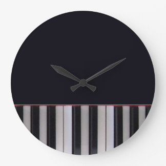 Piano Keys Clock by Leslie Harlow