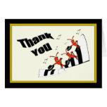 Piano Keys Dancing Crawfish / Lobster Thank You Greeting Card