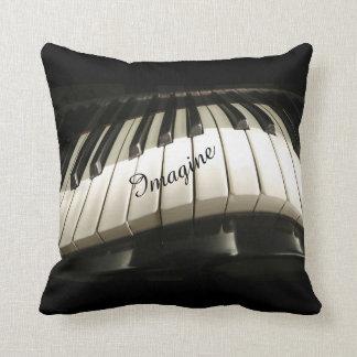 Piano Keys Decorative Throw Pillow