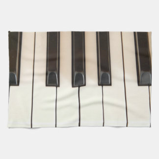 Piano Keys Hand Towels