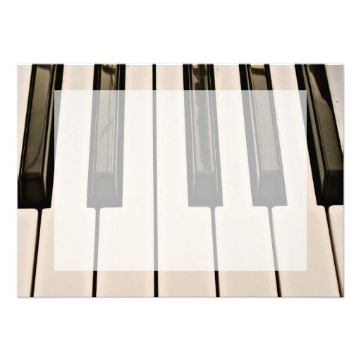 piano keys HDR vintage look electric keyboard Invitation