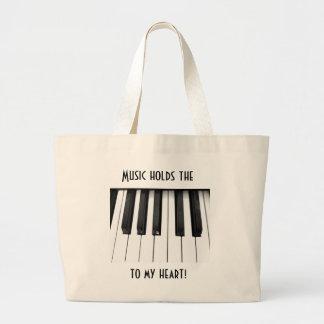 Piano keys jumbo tote bag