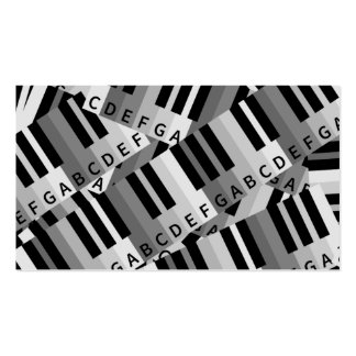 Piano Keys Layered Pattern Double-Sided Standard Business Cards (Pack Of 100)