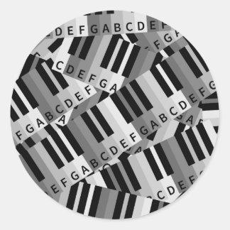 Piano Keys Layered Pattern Stickers