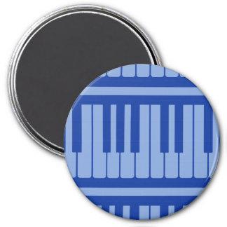 Piano Keys Light Blue Pattern Refrigerator Magnet