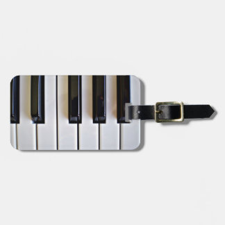 Piano Keys Luggage Tag
