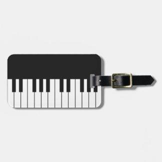 Piano Keys Luggage Tag