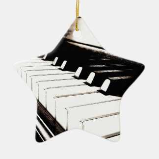 Piano Keys Macro Ceramic Star Decoration