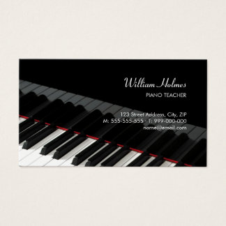 Piano Keys Music business card