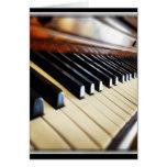 Piano Keys Music Gifts Blank Greeting Card