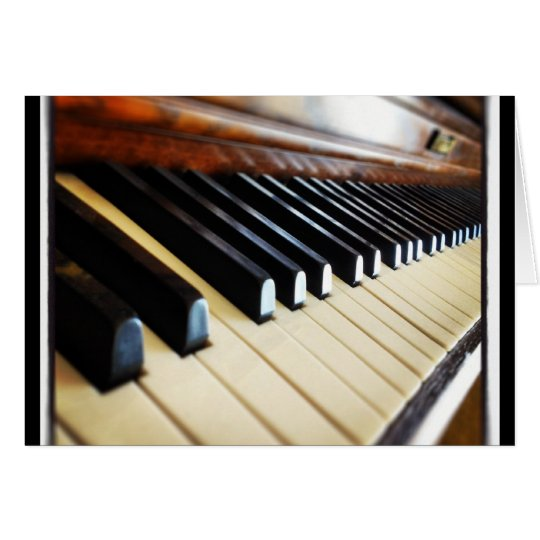 Piano Keys Music Gifts Notecards Card