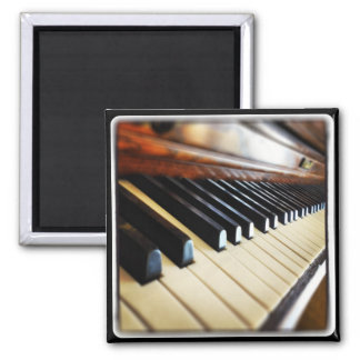 Piano Keys Music Gifts Square Fridge Magnet