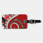 Piano Keys Music Notes Grunge Floral Swirls Tag For Luggage