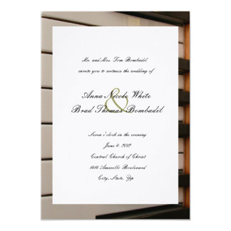 Piano Keys Music Wedding Invitation