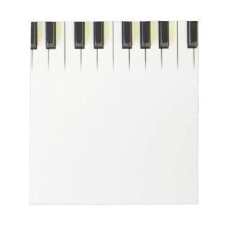 Piano Keys Notepad