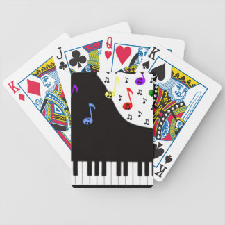 Piano Keys & Notes Bicycle Playing Cards
