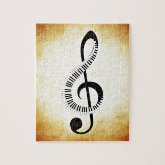 Piano Keys on a Music Clef Jigsaw Puzzle