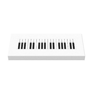 Piano keys on wrapped canvas. canvas print