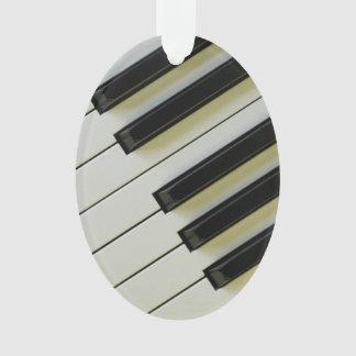 Piano Keys Oval Pendant Ornament