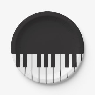 Piano Keys Paper Plates 7 Inch Paper Plate