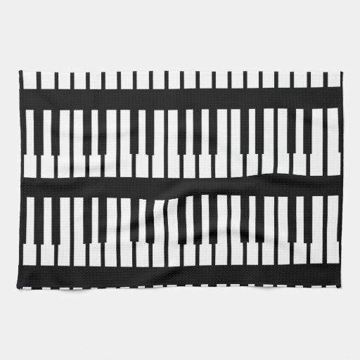 Piano Keys Pattern Hand Towels