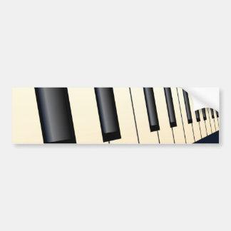 Piano Keys Perspective Bumper Sticker