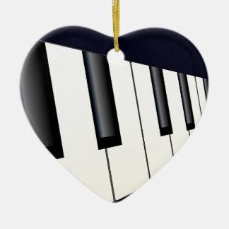 Piano Keys Perspective Ceramic Heart Decoration