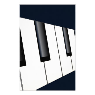 Piano Keys Perspective Personalised Stationery