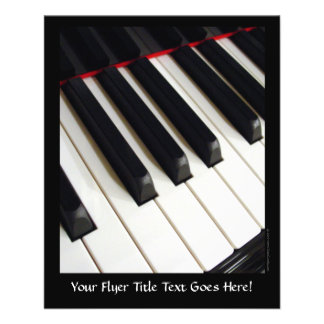 Piano Keys Photograph Full Color Flyer