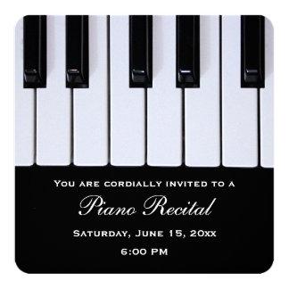 Piano Keys Piano Recital Invitations