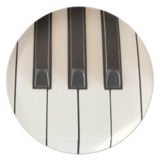 Piano Keys Plates