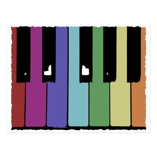 Piano Keys Post Cards
