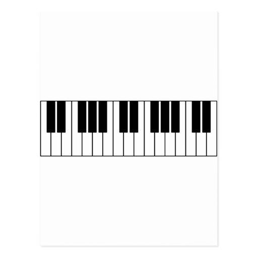 Piano Keys Postcards