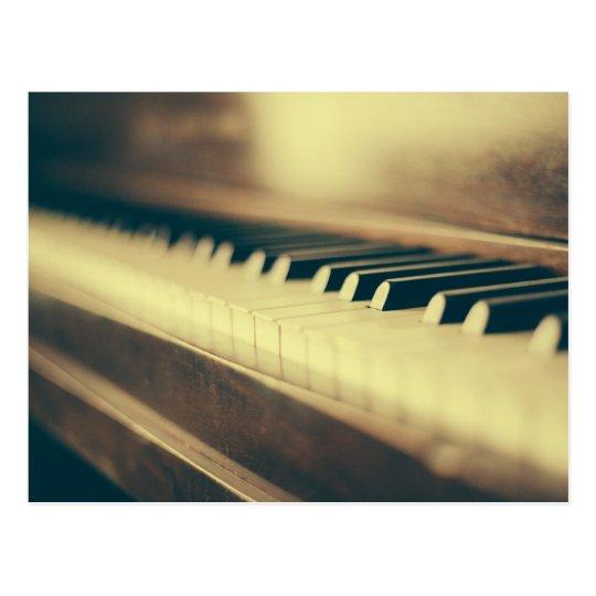 Piano Keys Postcard
