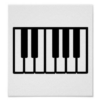 Piano keys print