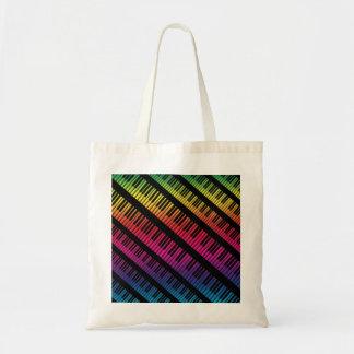 Piano Keys Rainbow Of Color