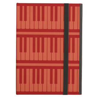 Piano Keys Red Pattern Cover For iPad Air