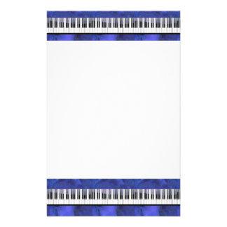 Piano Keys Sheet Music Modern Twist Custom Stationery