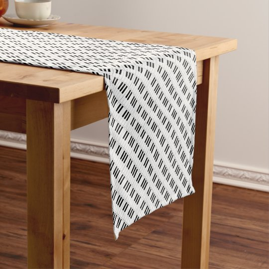 piano keys short table runner